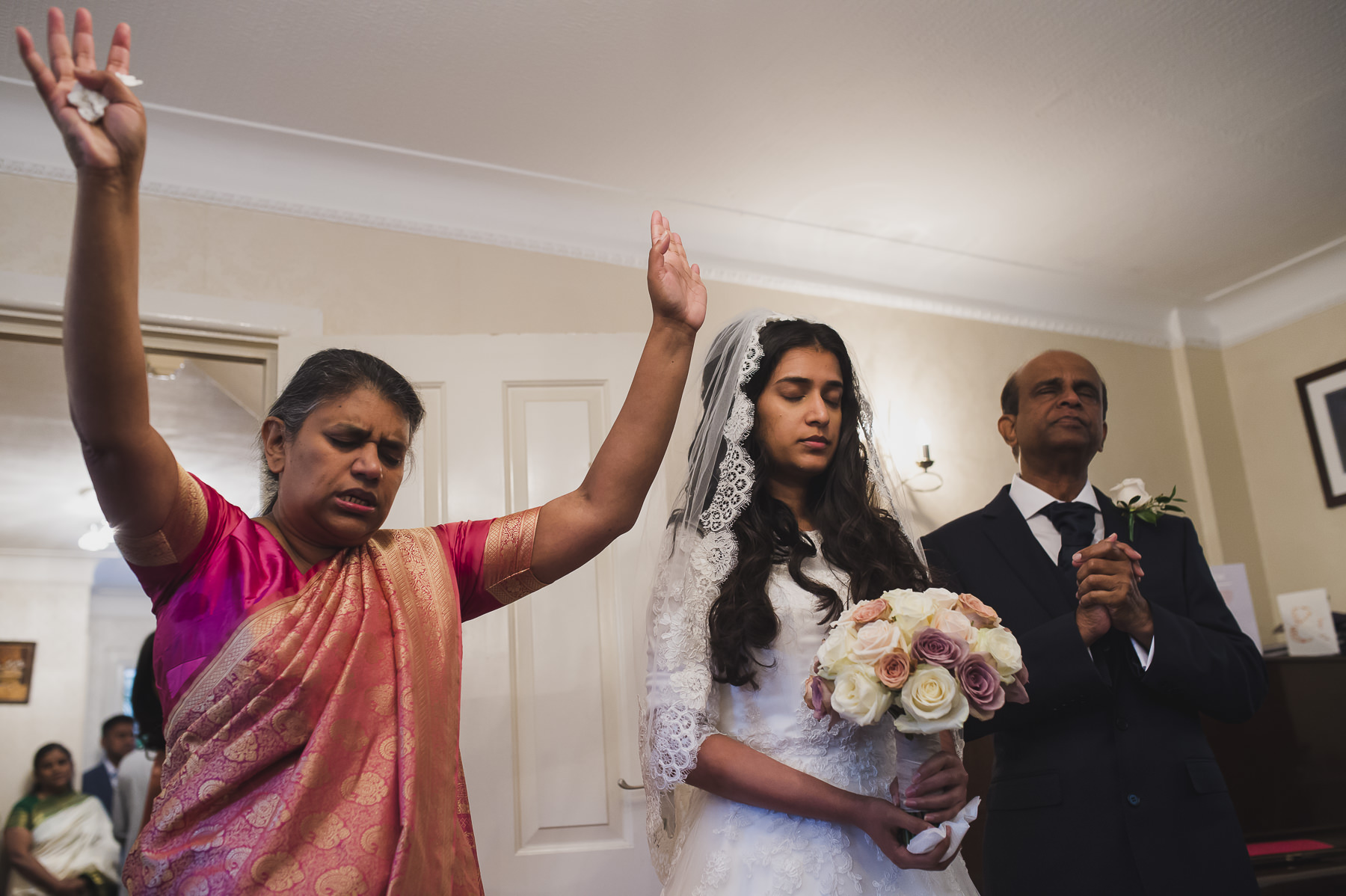 Morning Prayers at a Christian Wedding in Mayfair
