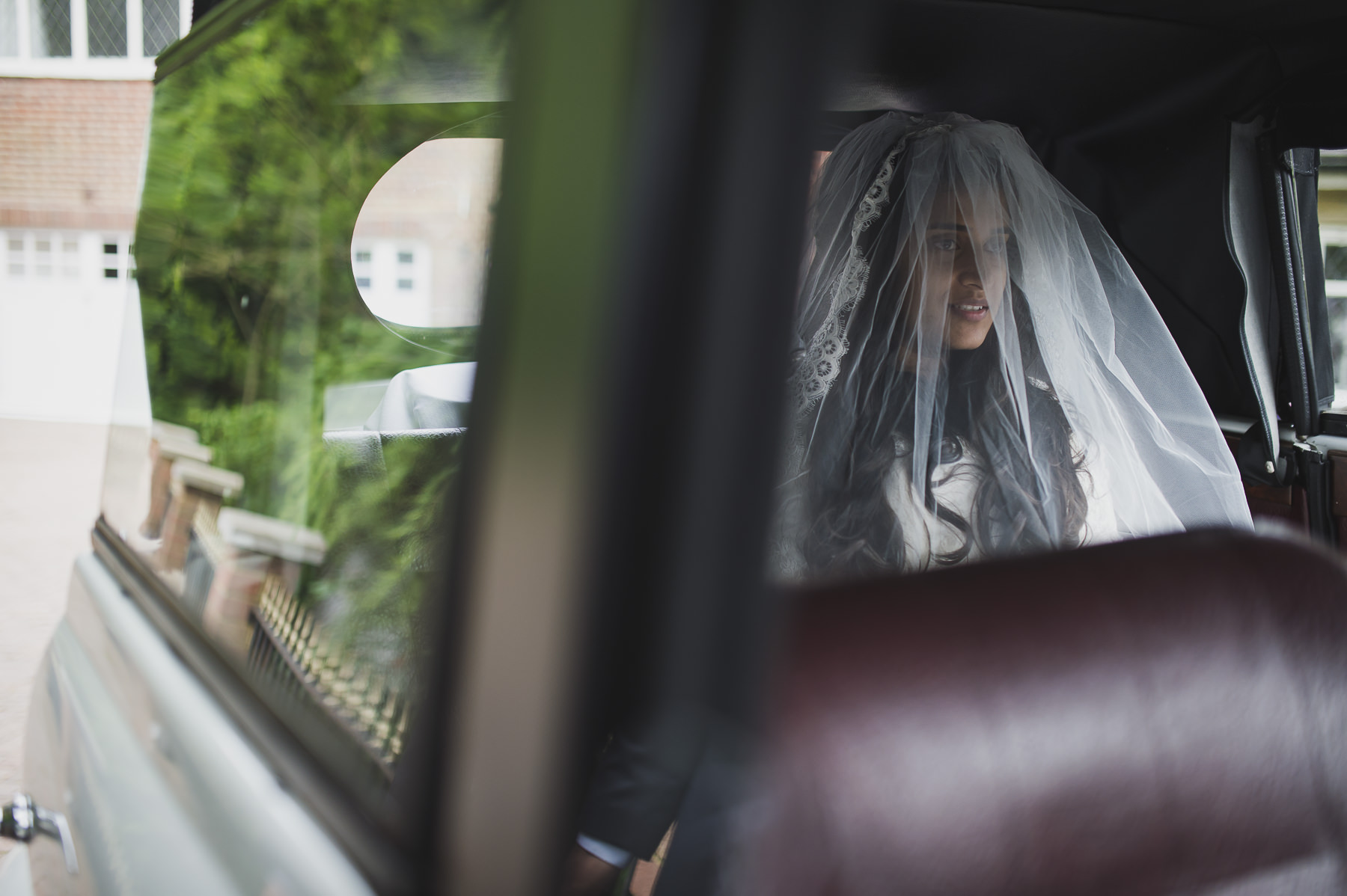 Christian Mayfair wedding bride driven to church