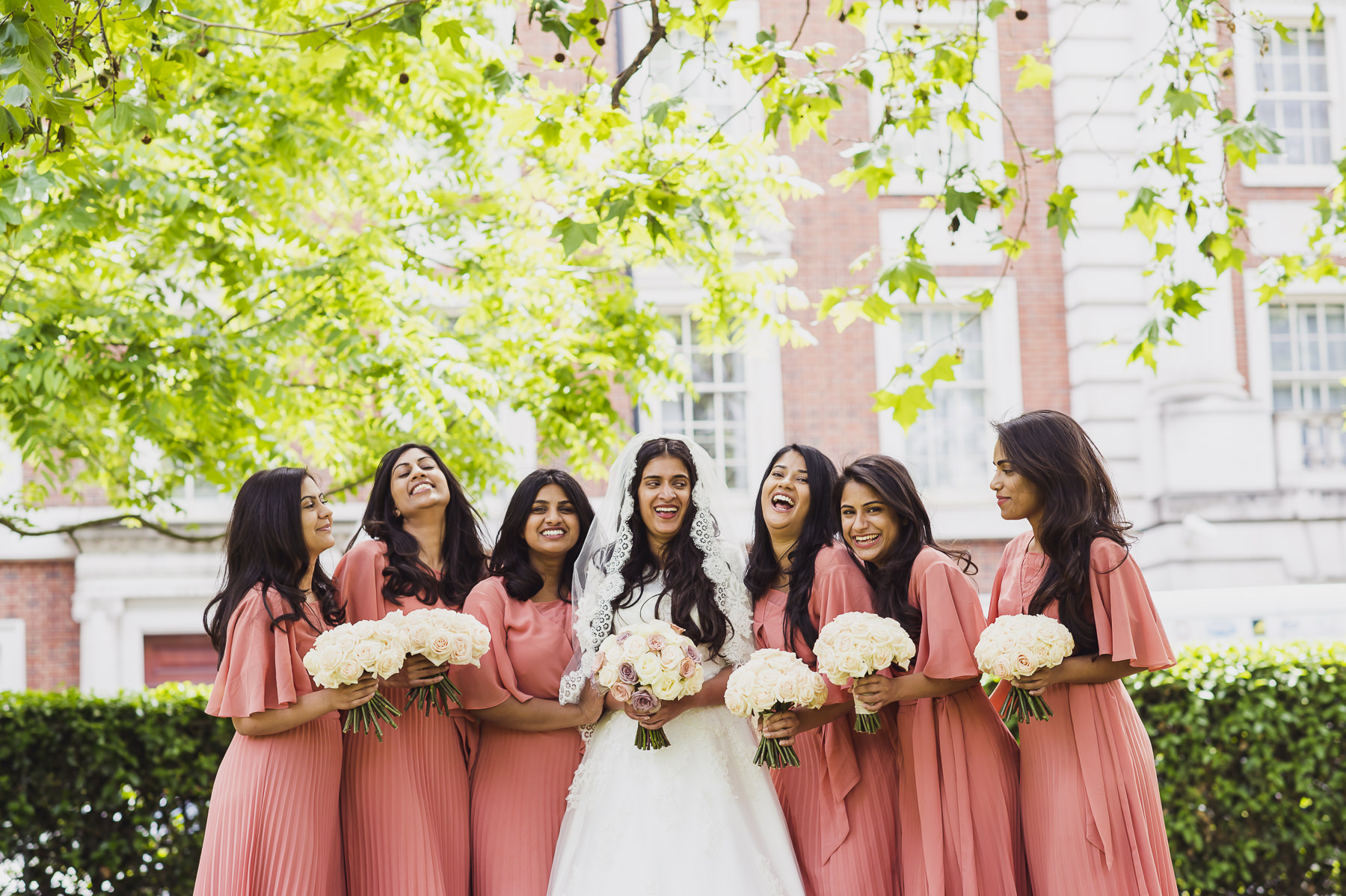 Bridal Party Christian Wedding Photography Mayfair Photographer