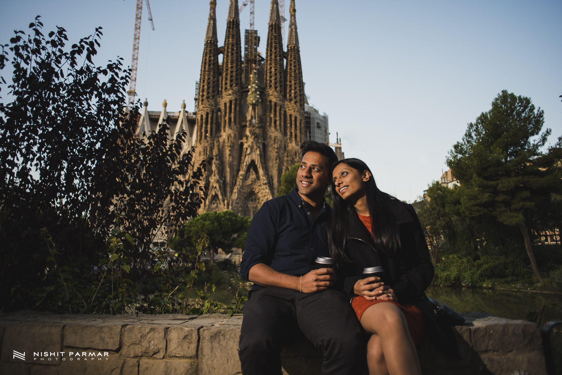 Barcelona Prewedding Shoot Sagrada Familia Early Morning inspiration Wedding Photography