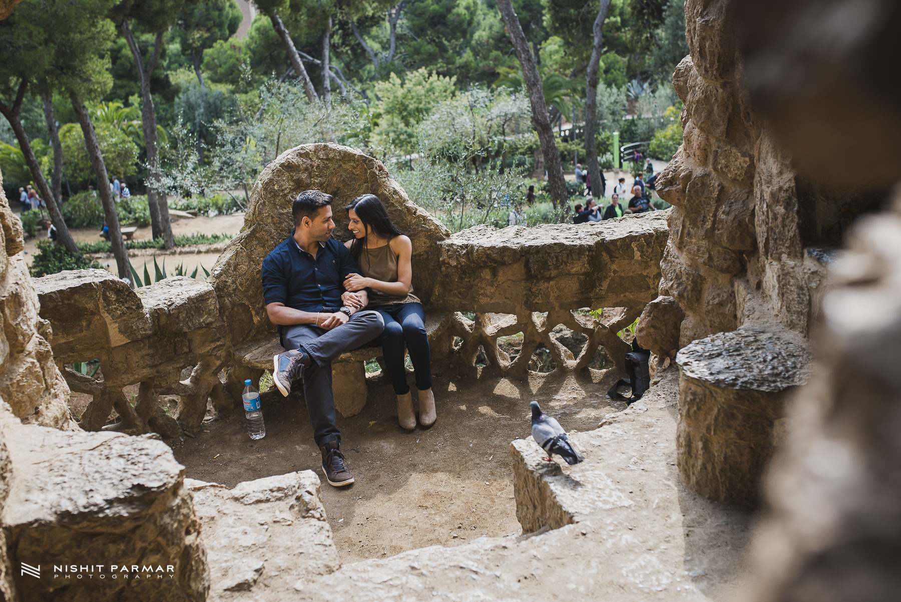 Barcelona Prewedding Shoot Asian Wedding Photography Park Guell Inspiration