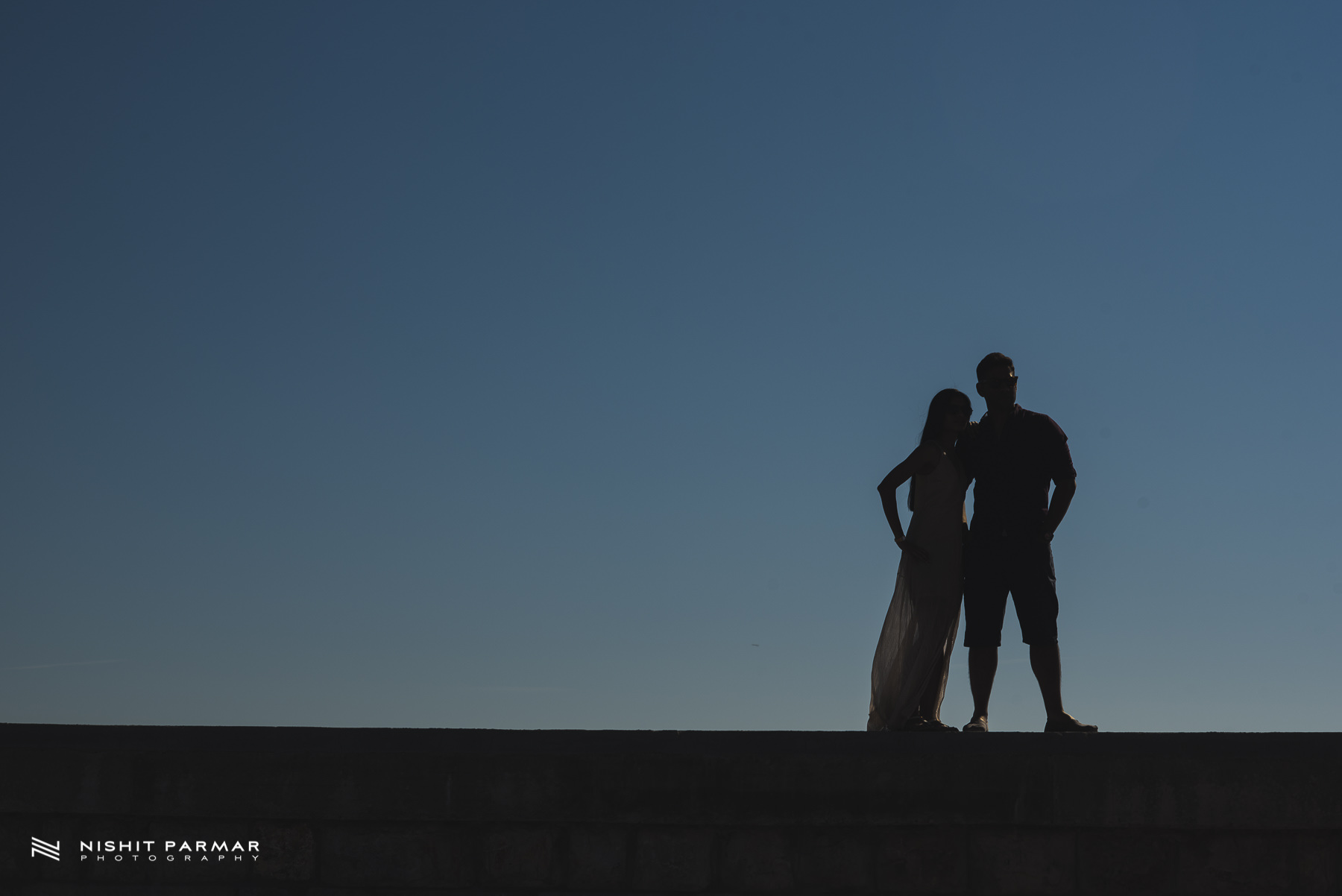 Barcelona Prewedding Shoot Asian Wedding Photography Silhouette in Stiges