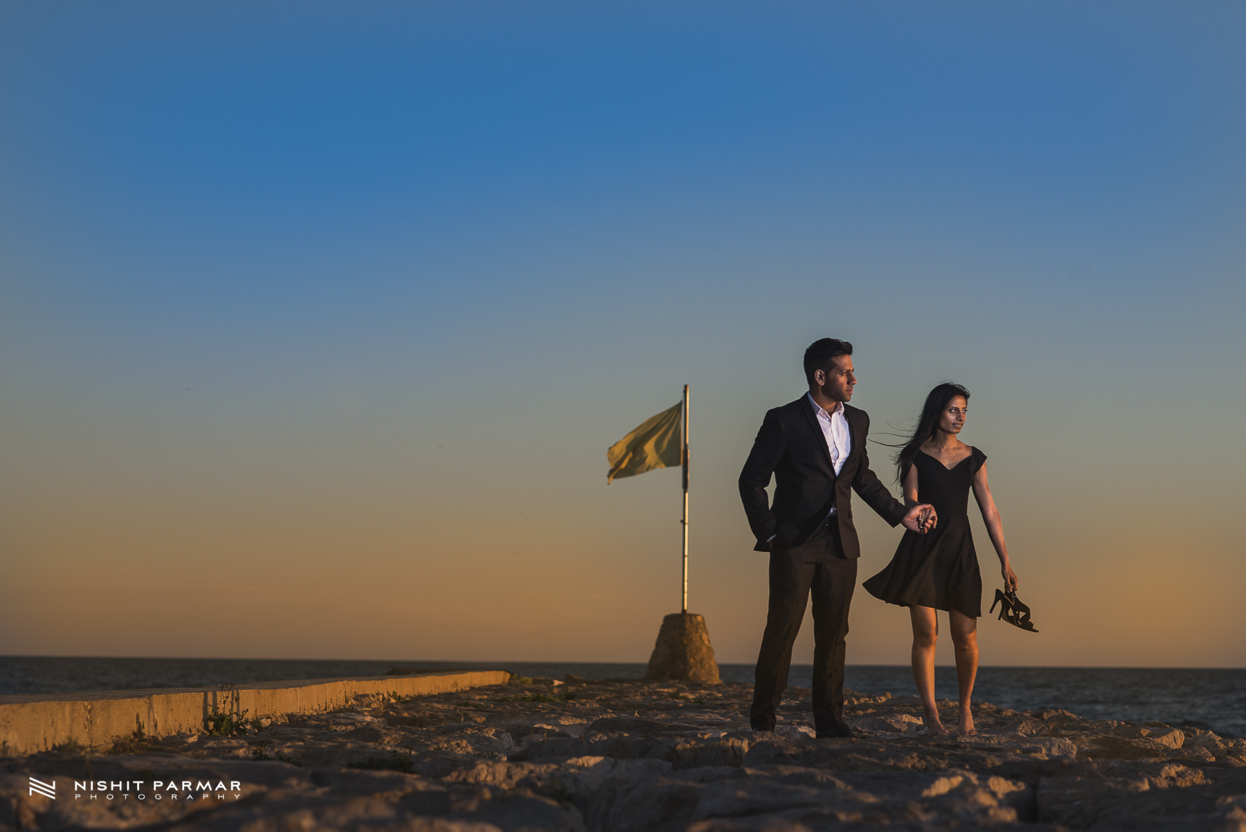 Barcelona Prewedding Shoot Asian Wedding Photography in Stiges James Bond theme