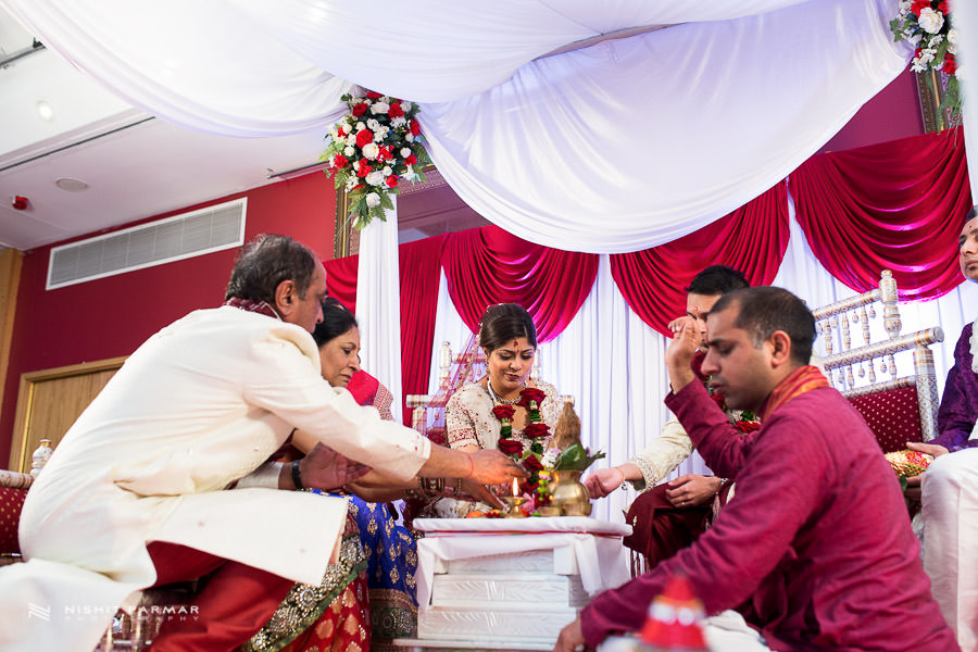 Beautiful Wedding Photography at Baylis House Hindu Wedding Nishita and Upesh