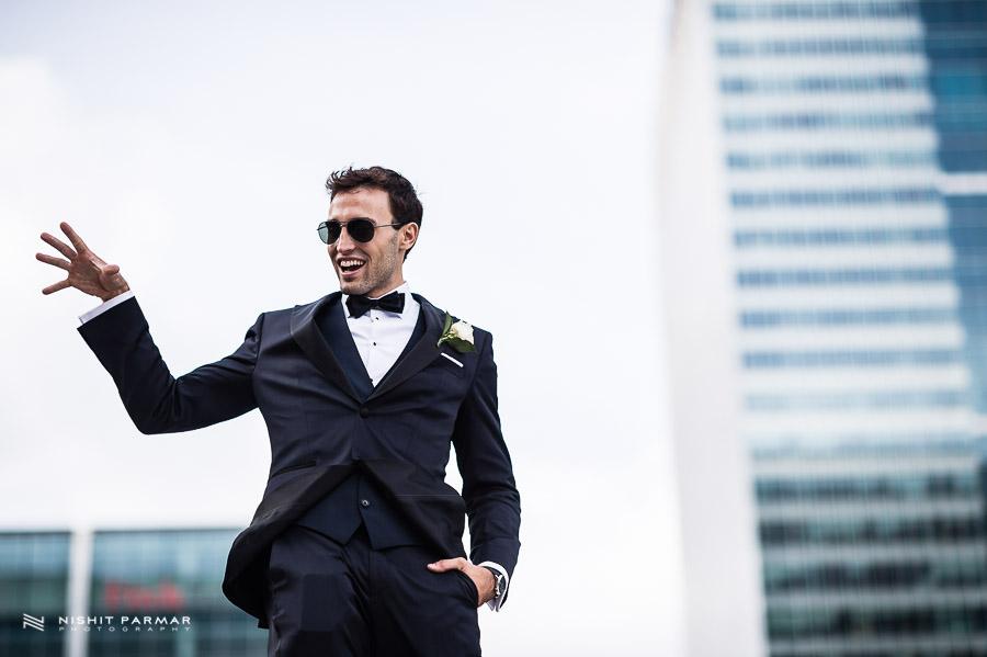 Canary Wharf Wedding - Groom - East Wintergardens Wedding Photography