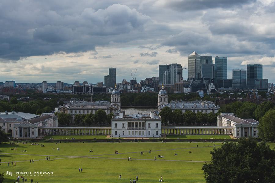 Scene setting in Greenwich Park