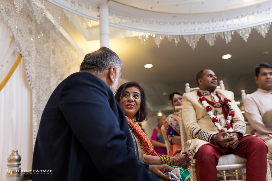 Indian Wedding Parents Blessing Groom