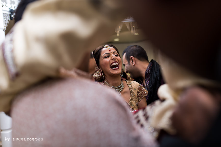Asian Wedding Bride laughing