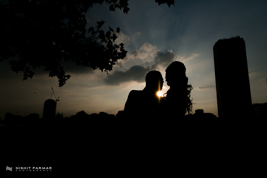 London Silhouette Bride and Groom