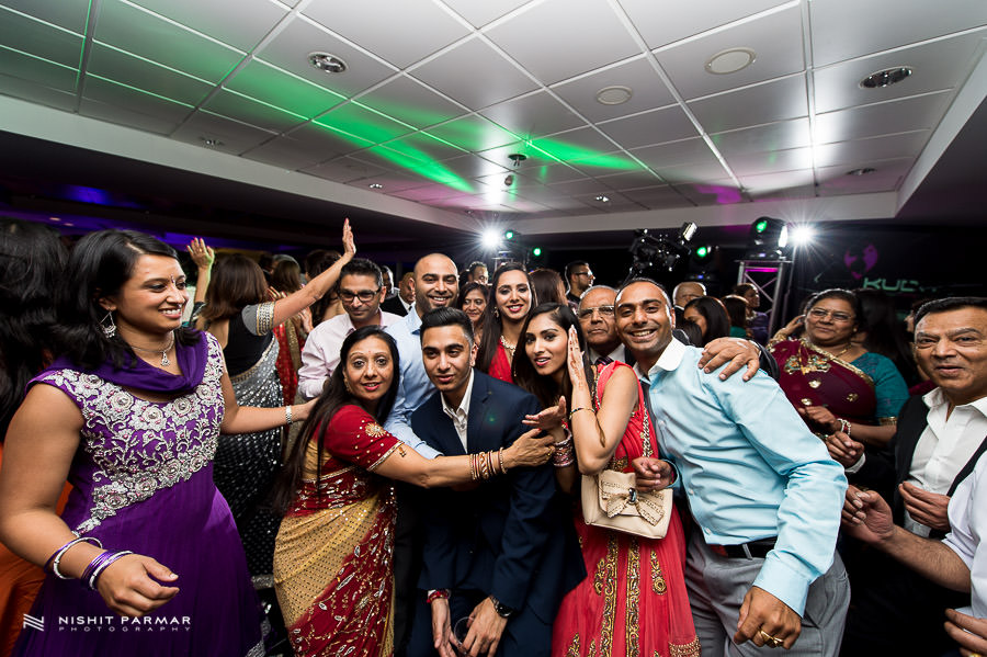 Group Shot Hindu Asian Wedding Photography