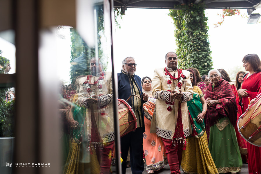 Asian Wedding Photography Groom reflection