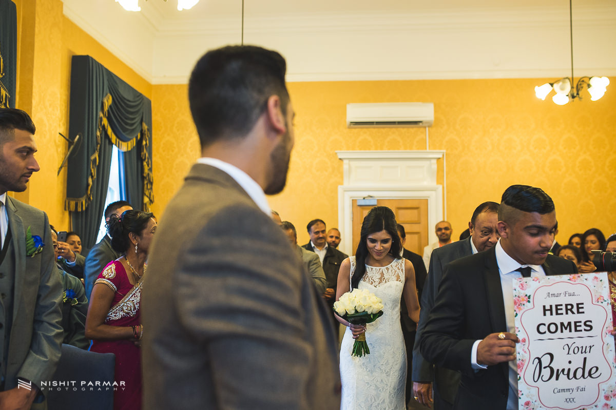 Cammy and Amar Civil Wedding and Reception in Essex Asian Wedding Photographer-15