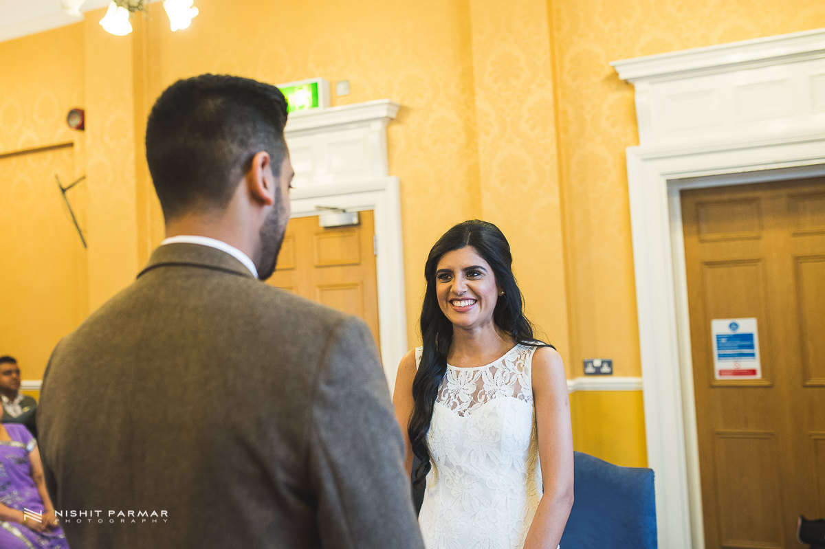 Cammy and Amar Civil Wedding and Reception in Essex Asian Wedding Photographer-17