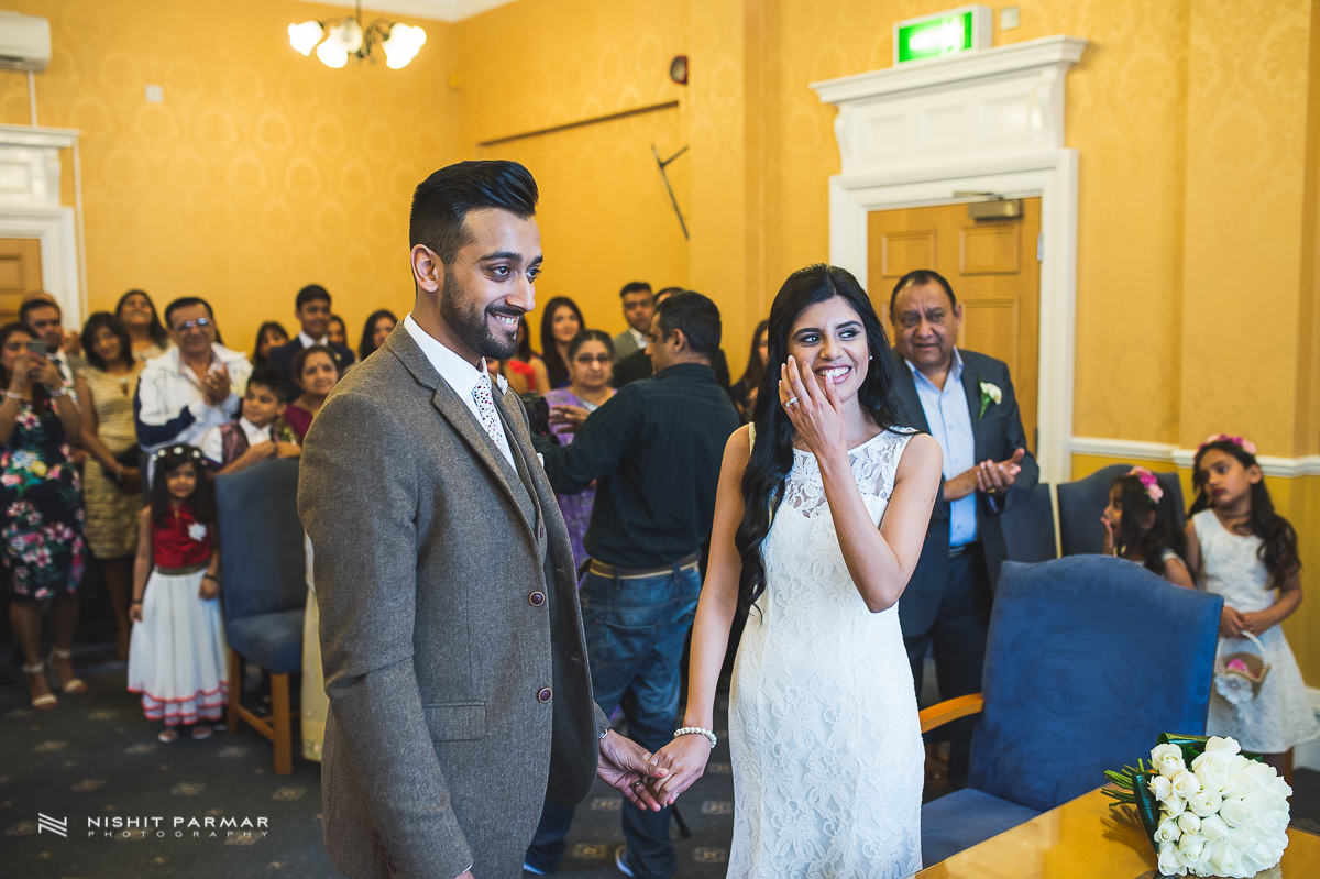 Cammy and Amar Civil Wedding and Reception in Essex Asian Wedding Photographer-20