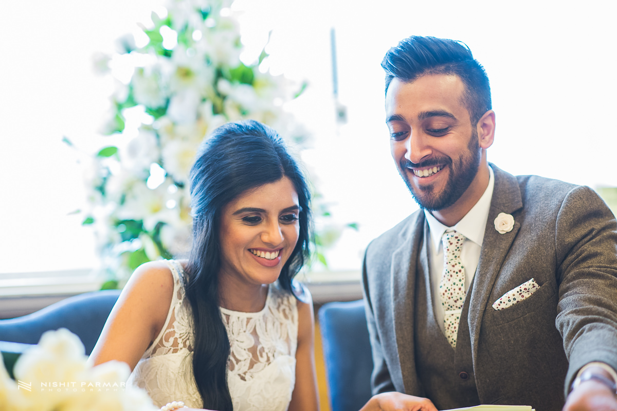Cammy and Amar Civil Wedding and Reception in Essex Asian Wedding Photographer-21