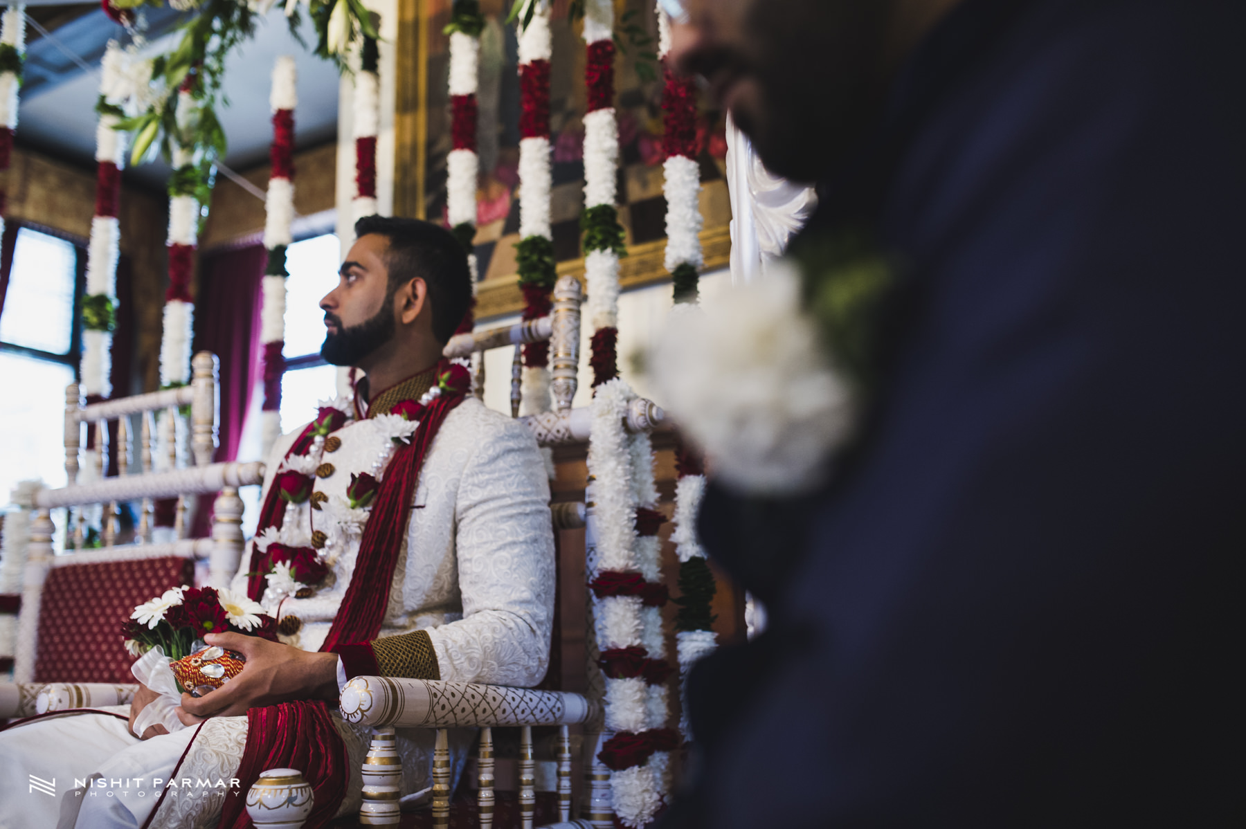 Groom waiting for his Bride to enter Mandap