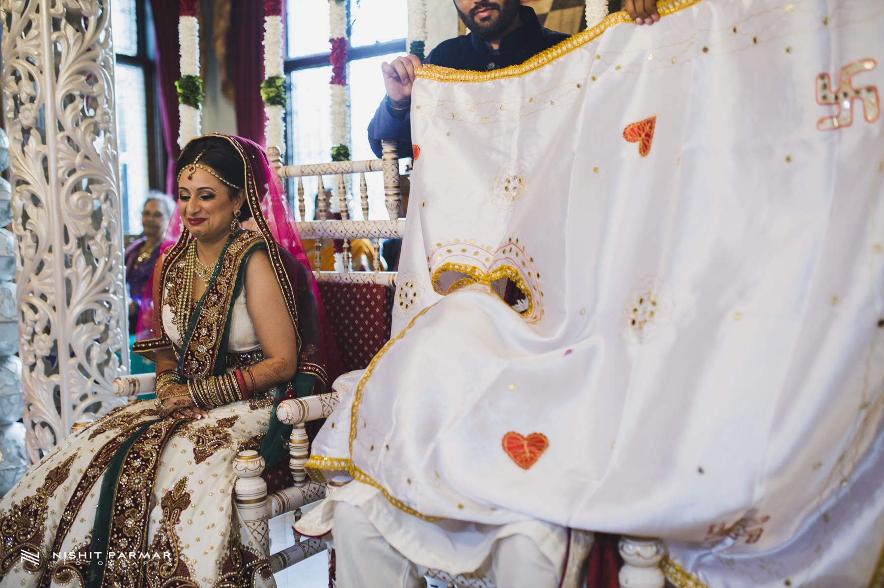Bride and Groom in Mandap