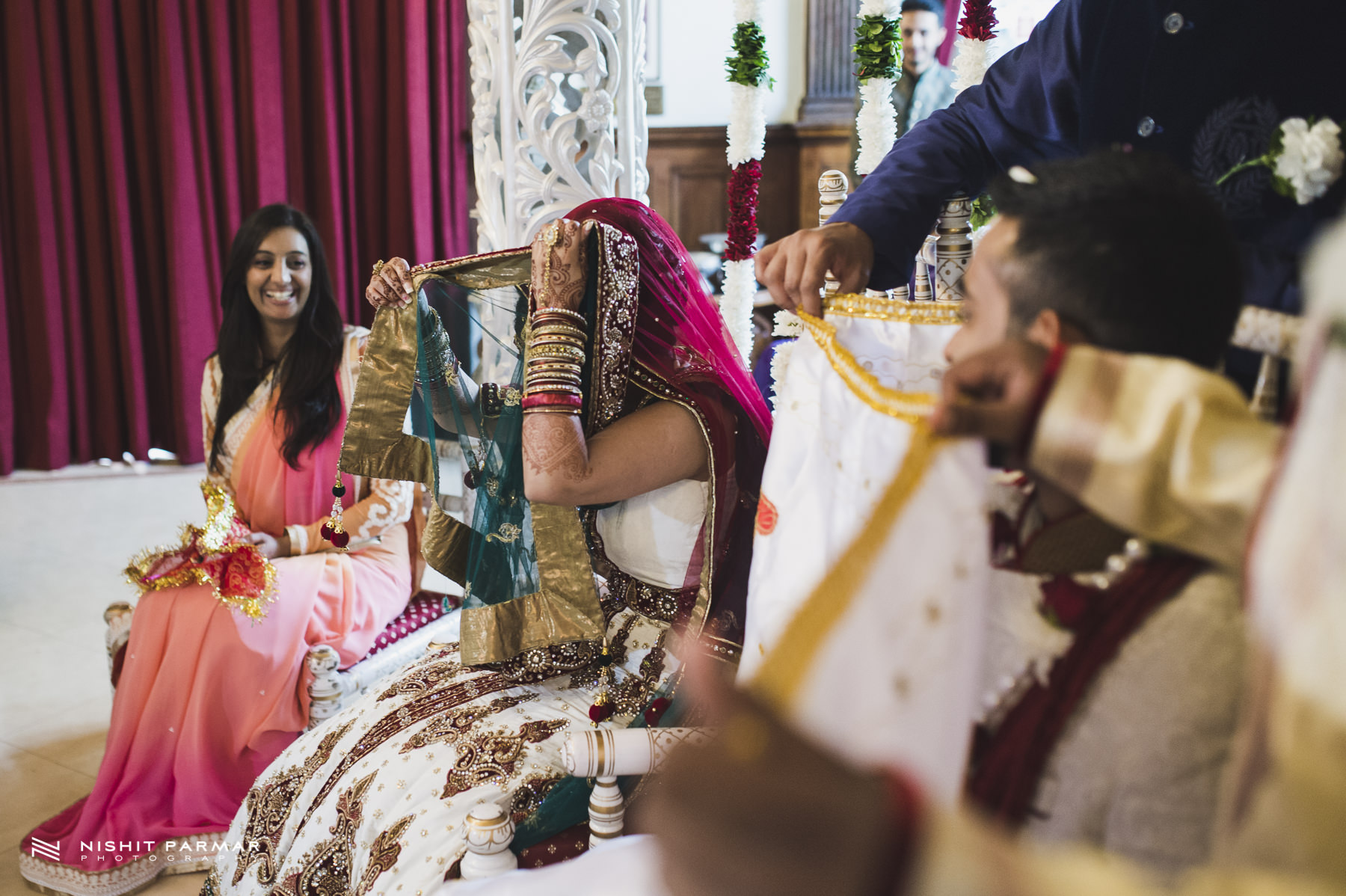 Hindu Wedding Bride playing Games