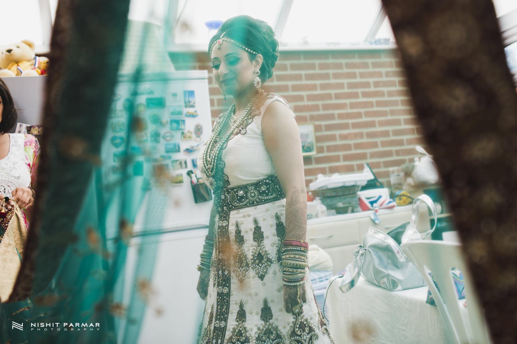 Bridal Portrait with her Wedding Dress
