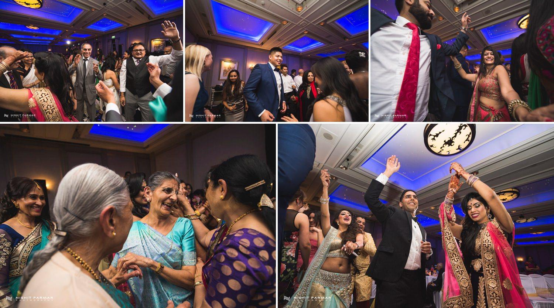 Oulton Hall Leeds Hindu Wedding Reception Asian Wedding Bride and Groom