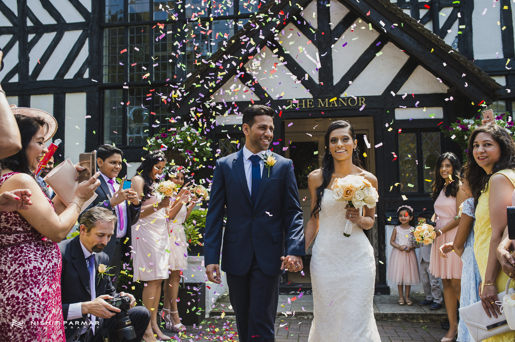 Civil Wedding Laura Ashley Manor Elstree London Wedding Photographer - confetti picture