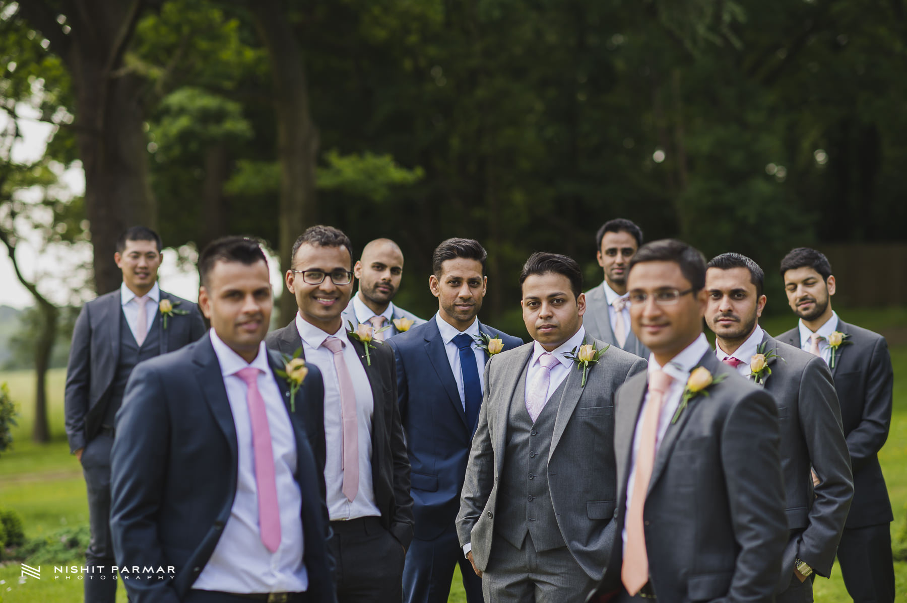 Civil Wedding Laura Ashley Manor Elstree London Wedding Photographer - groomsman portrait