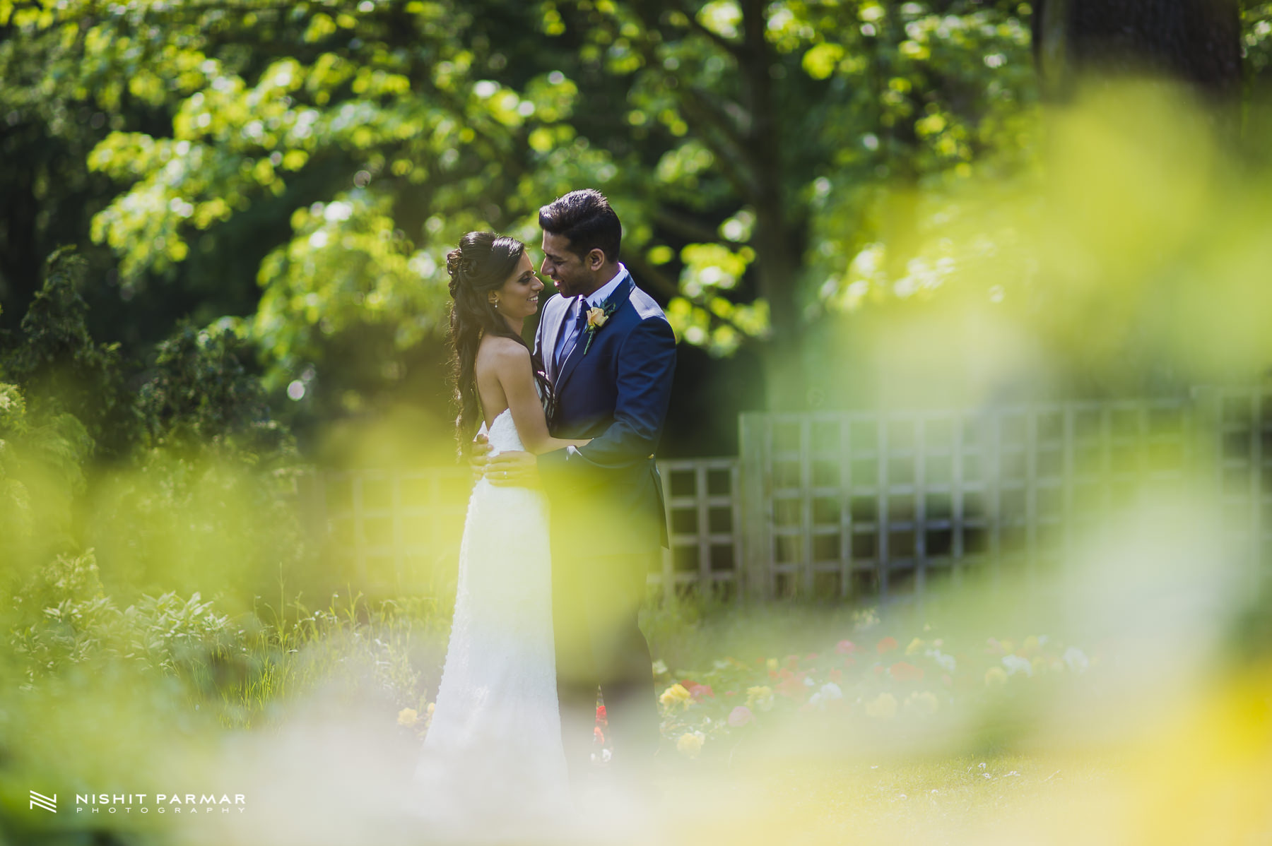 Civil Wedding Laura Ashley Manor Elstree London Wedding Photographer - bride and groom portrait