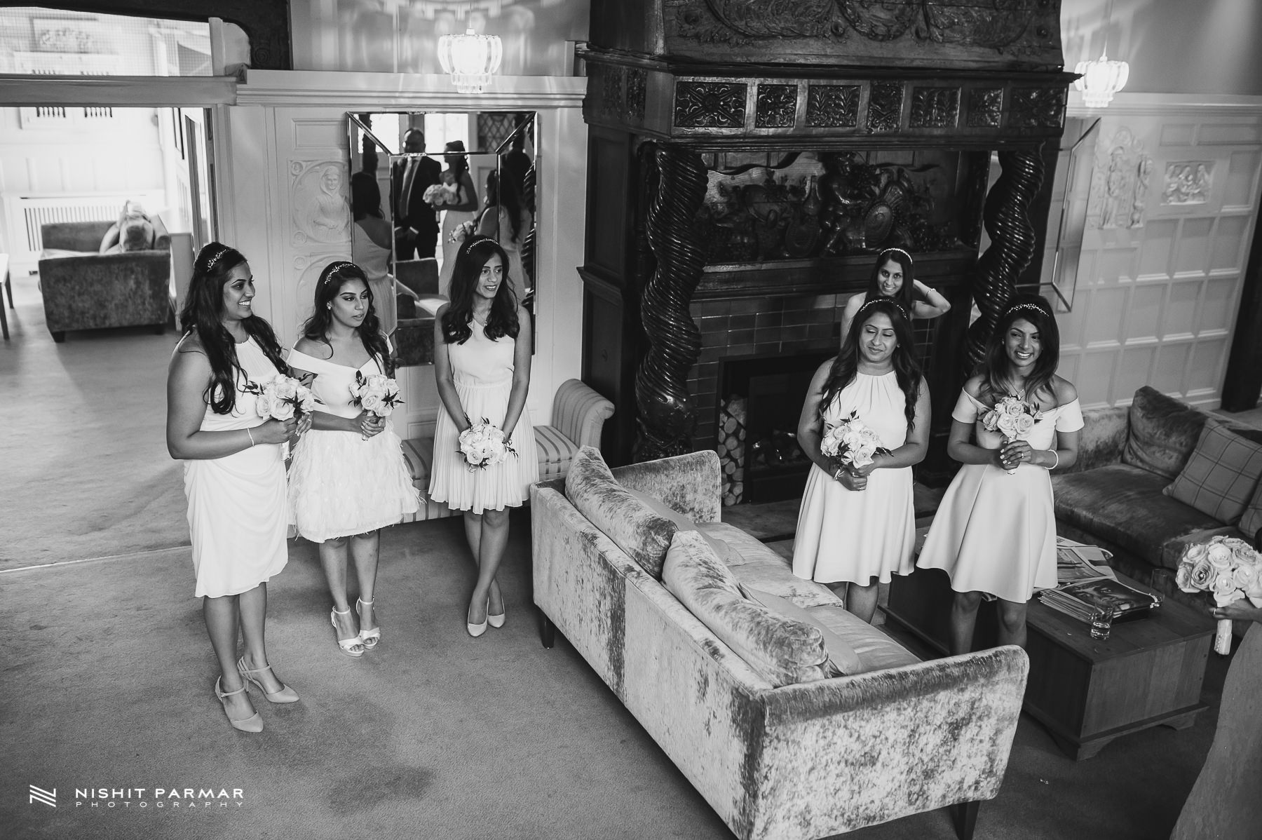 Civil Wedding Laura Ashley Manor Elstree London Wedding Photographer - bridesmaids