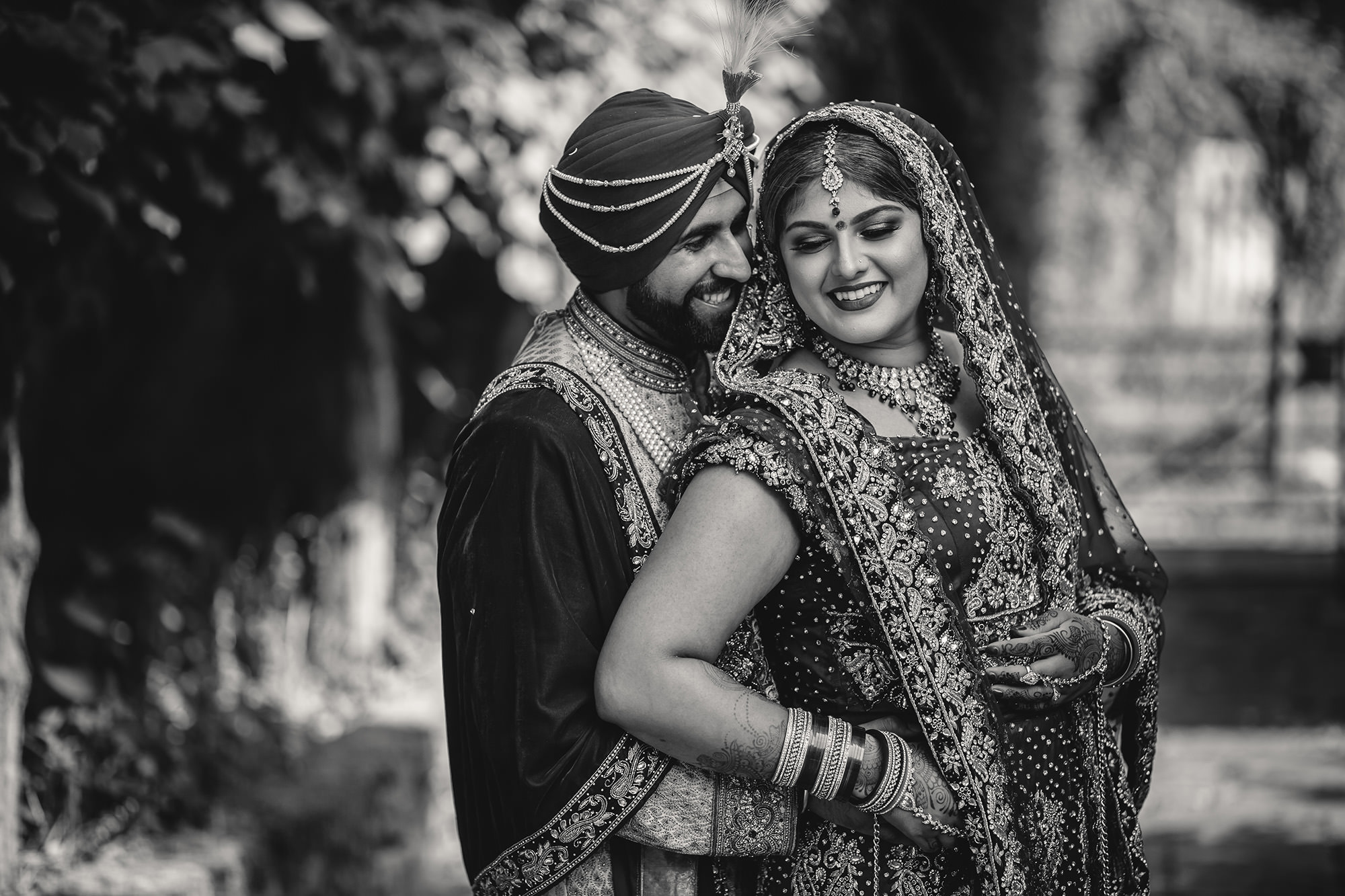 bride and groom portraits after their wedding