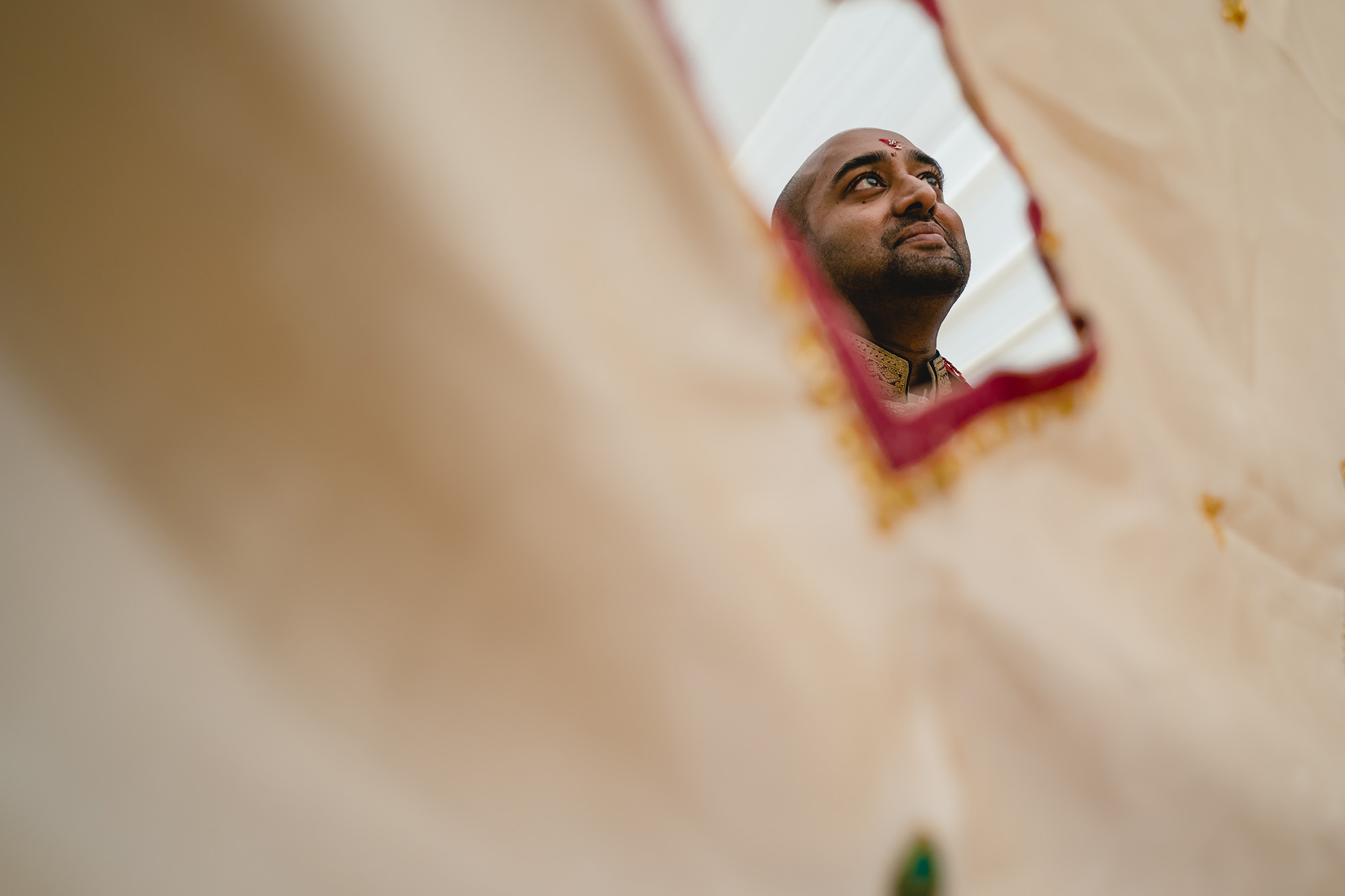 groom awaiting for bride to enter