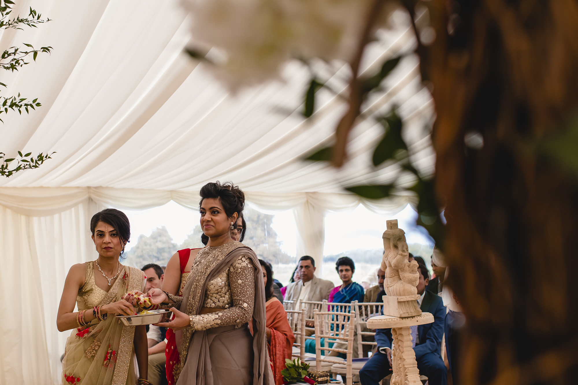 fera during the hindu wedding at stapleford park