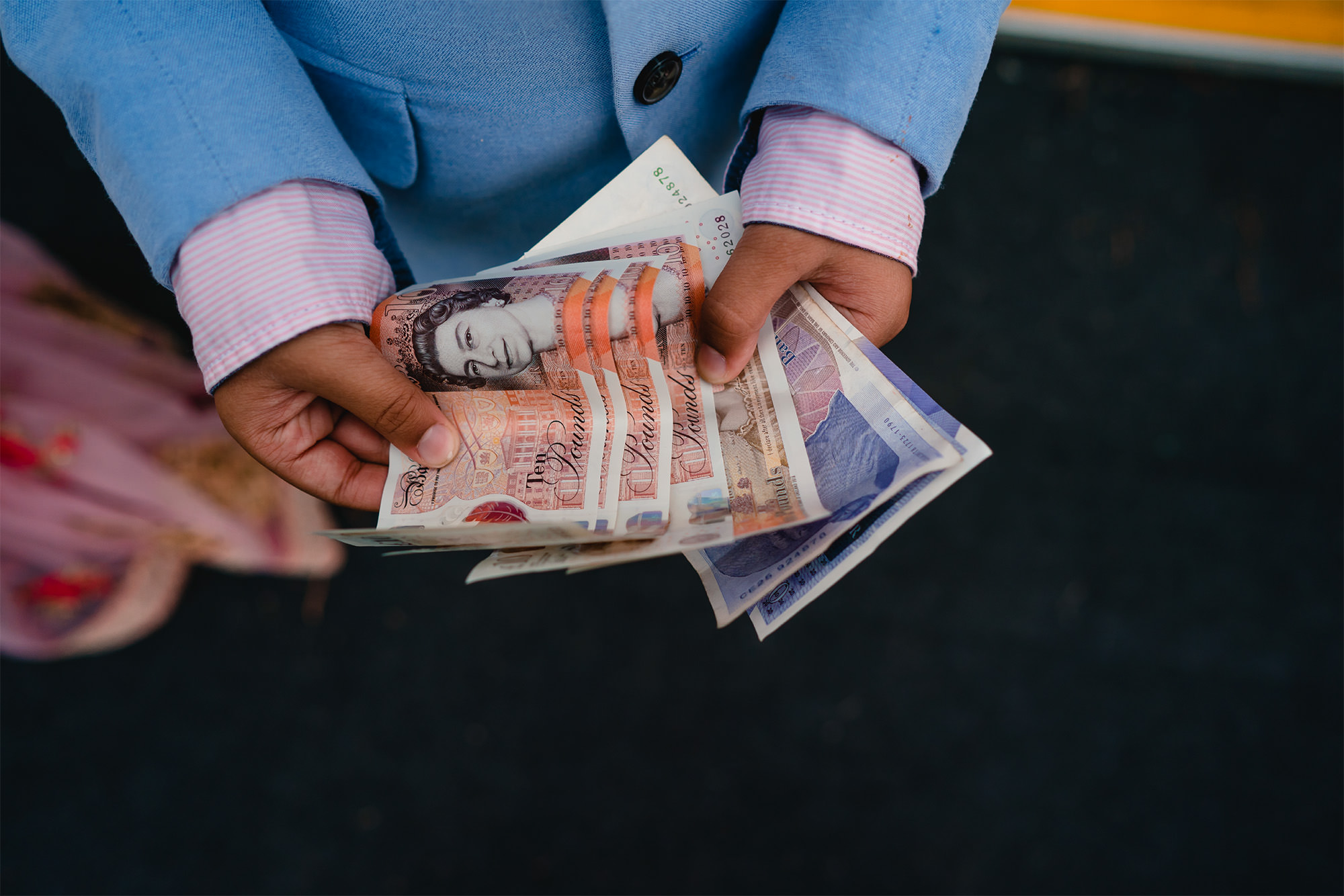 money exchange at hindu wedding
