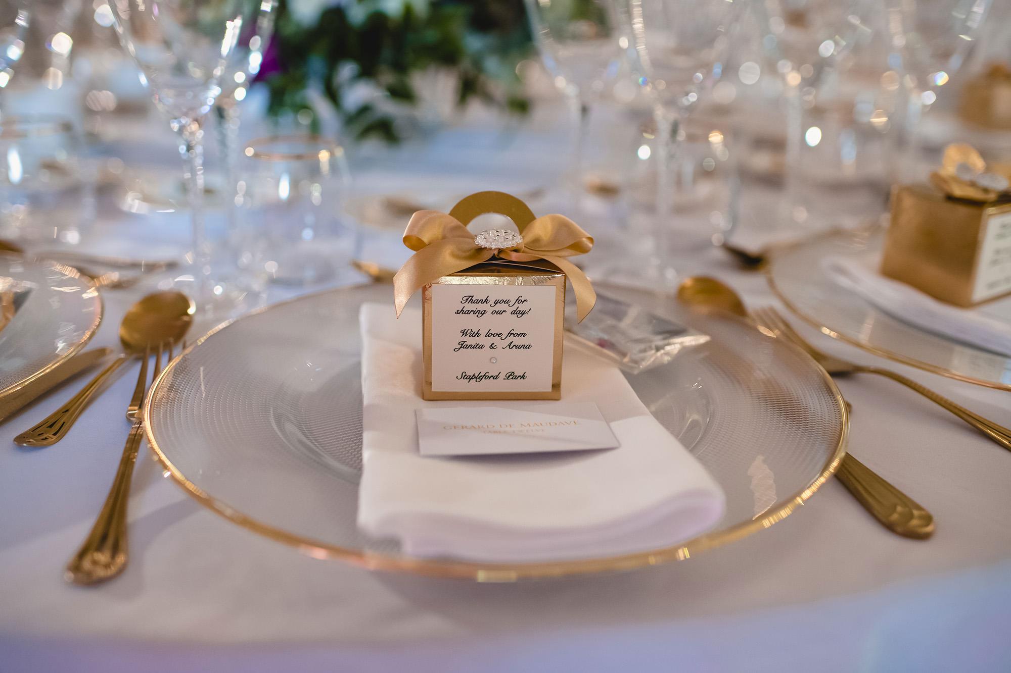 wedding details at stapleford park