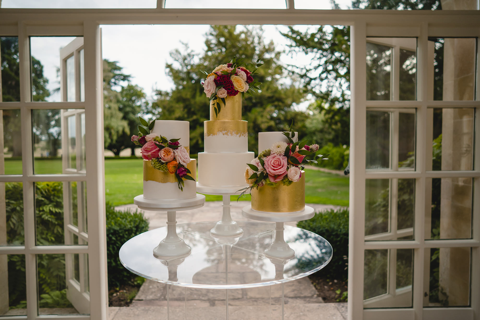 wedding cake details at stapleford park