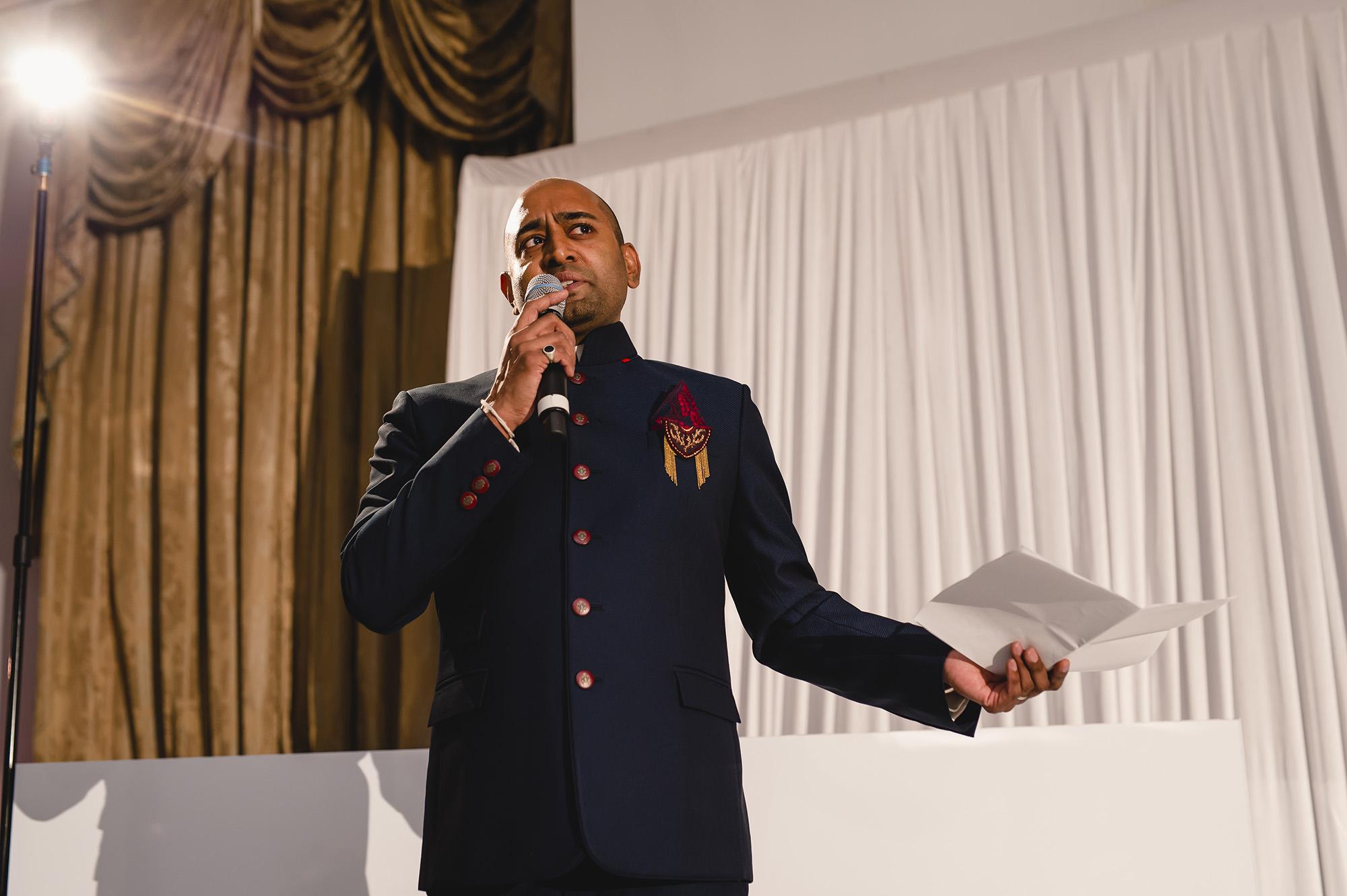 wedding reception groom speech stapleford park