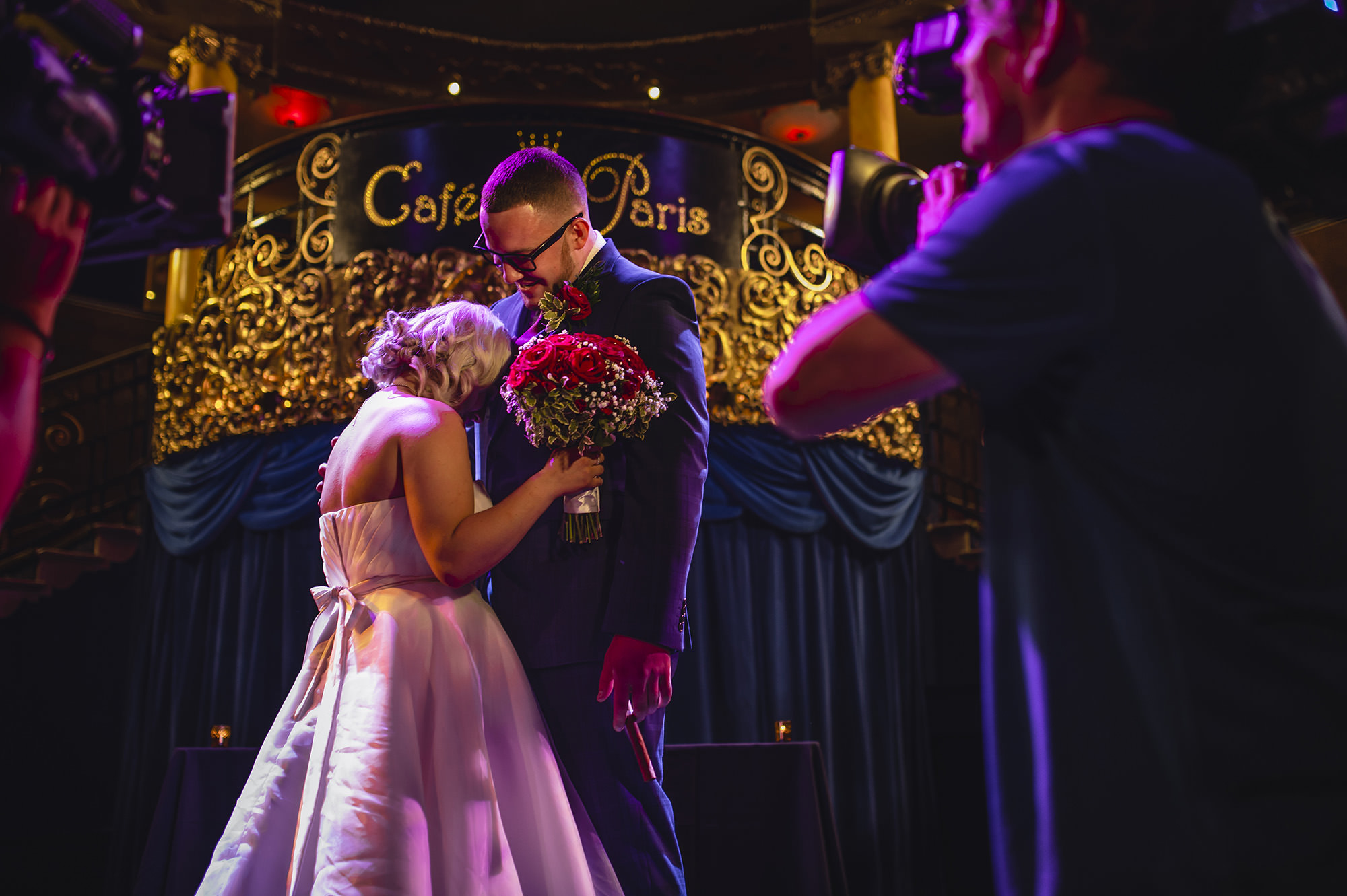 wedding ceremony in cafe de paris