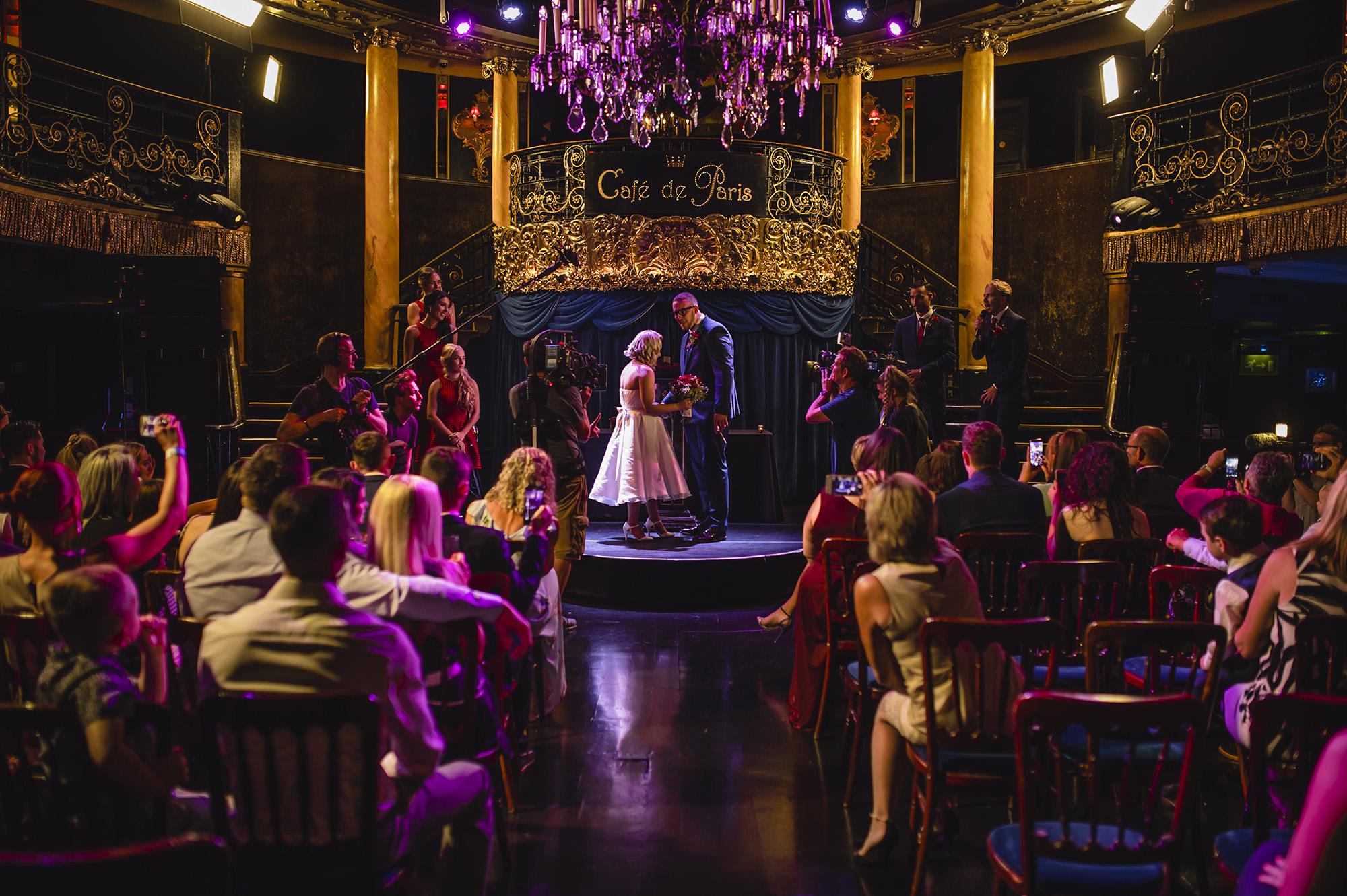 wedding ceremony in cafe de paris