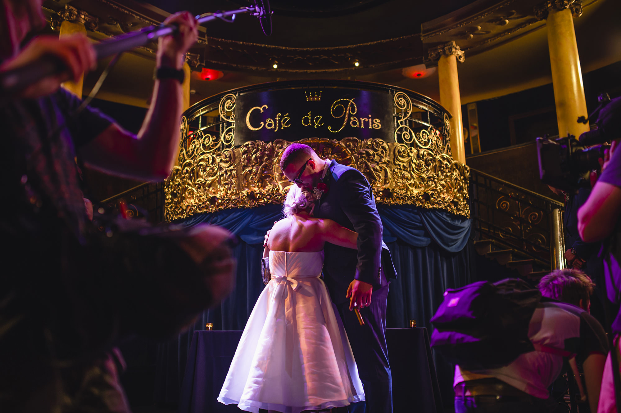 wedding ceremony in cafe de paris London