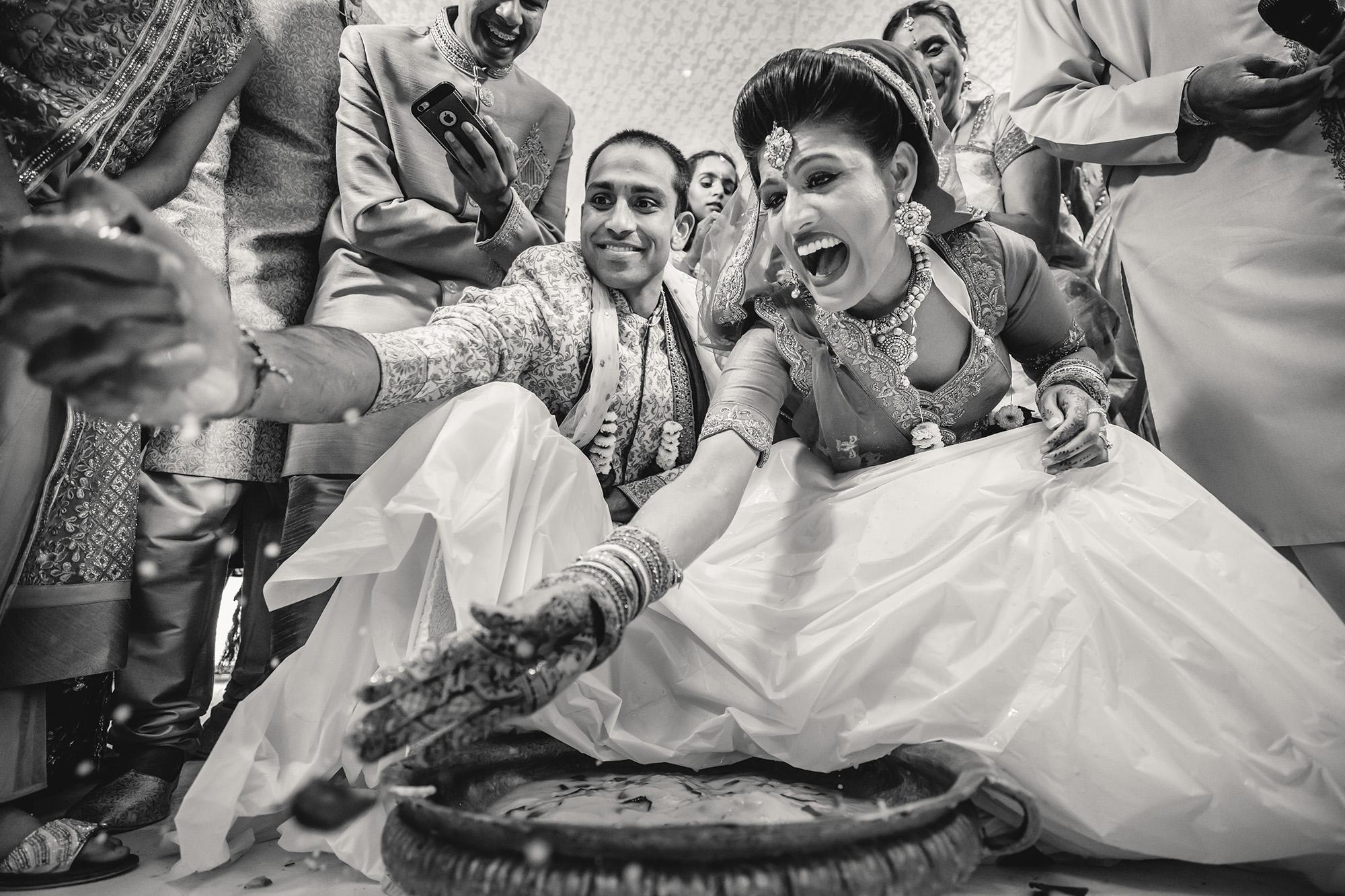 hindu wedding games between the bride and groom