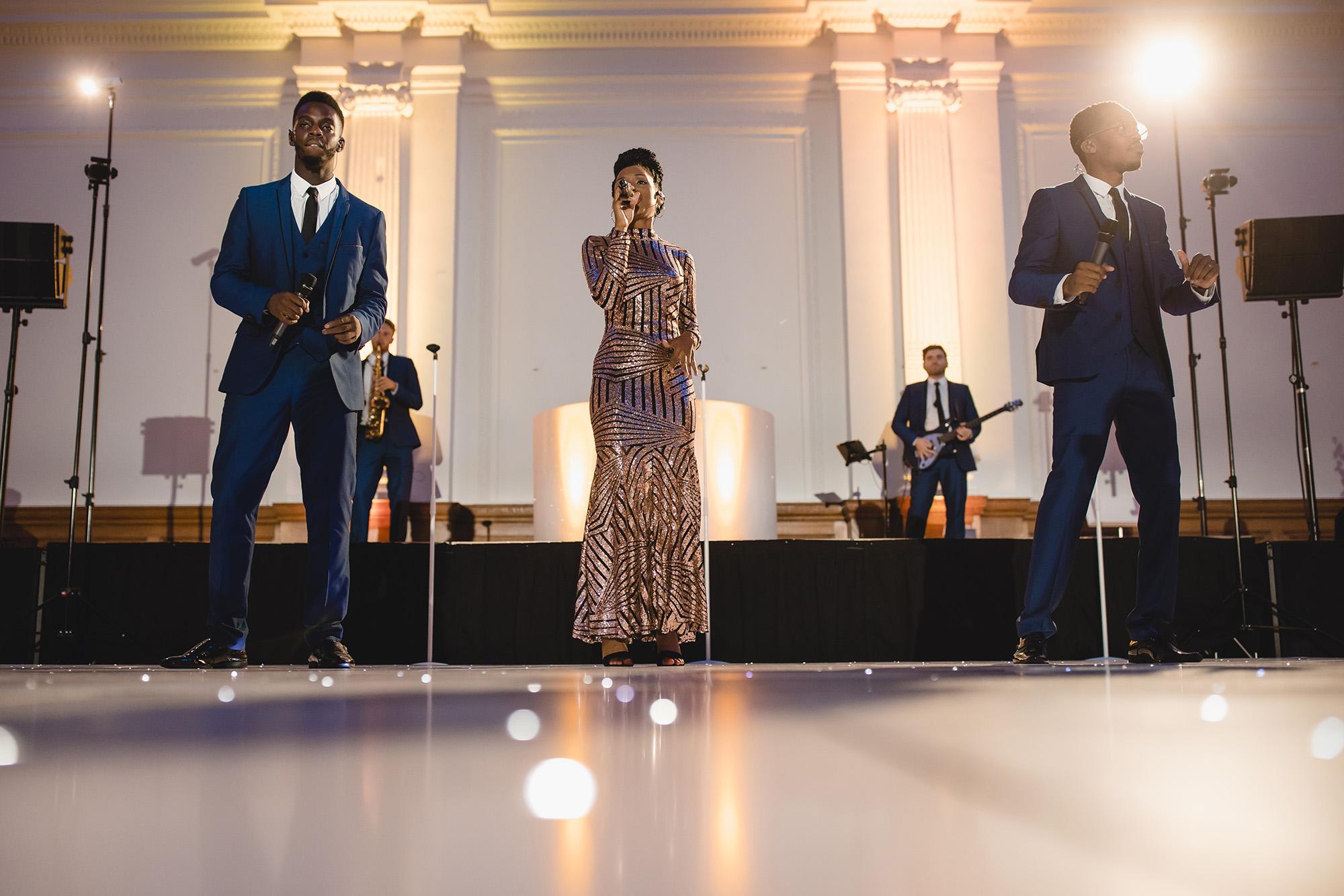 band singing at Royal Horticultural Halls