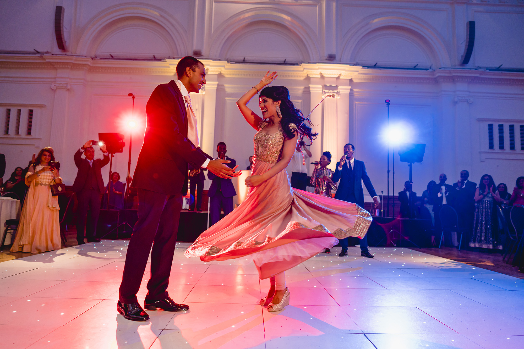 bride and groom first dance at RHH wedding reception