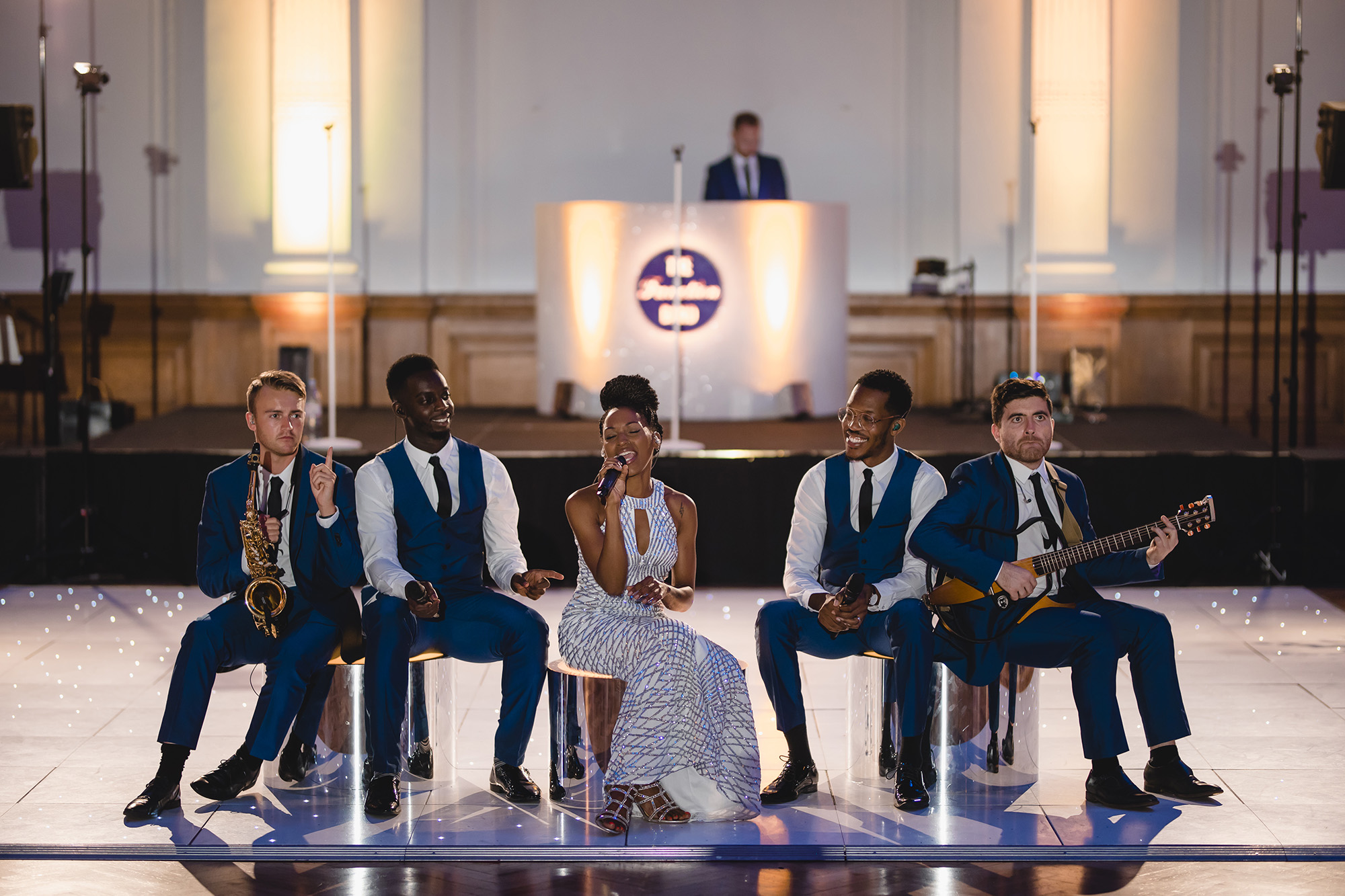 live band entertaining wedding guests at RHH