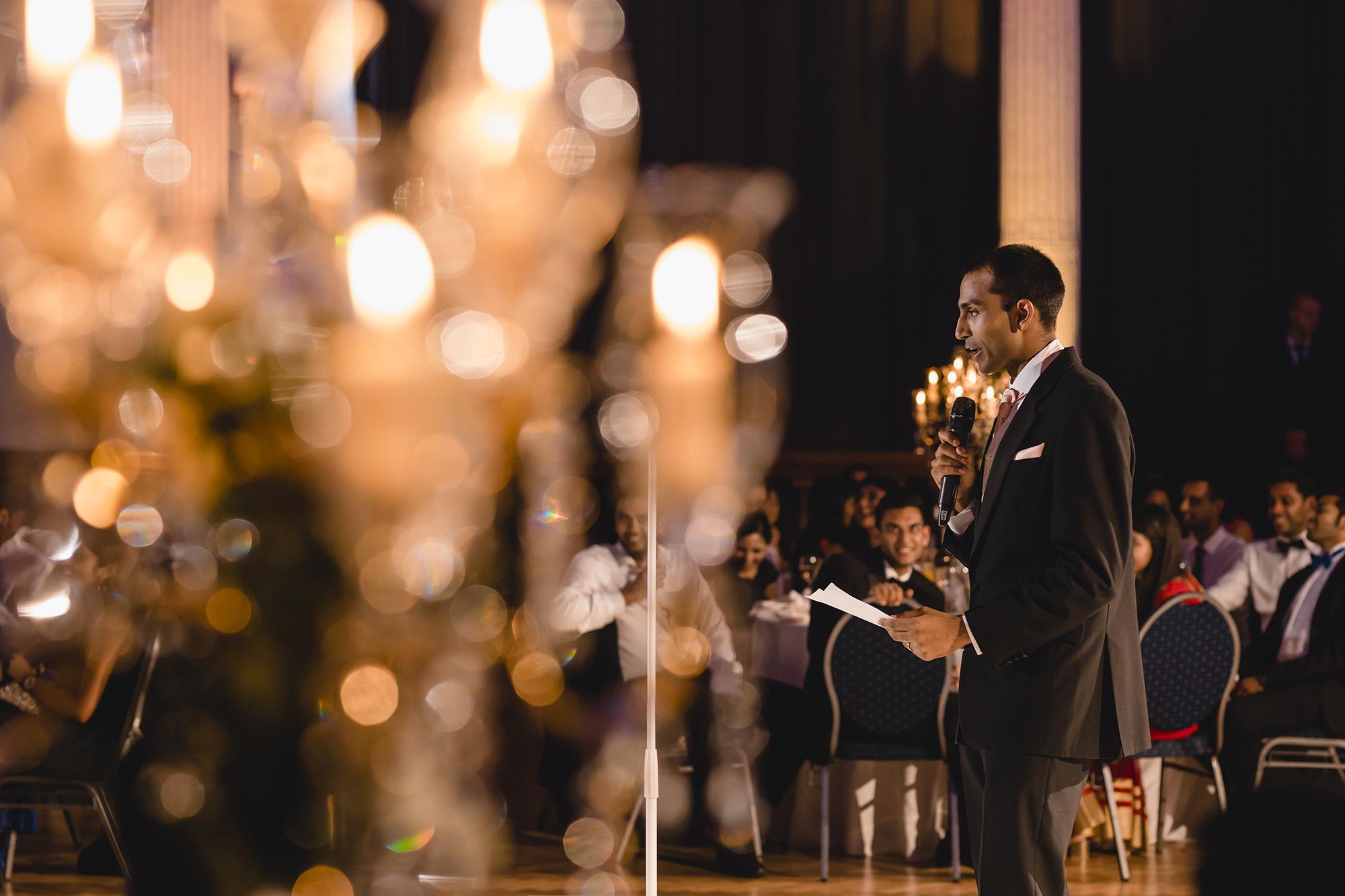 groom speech during asian wedding reception