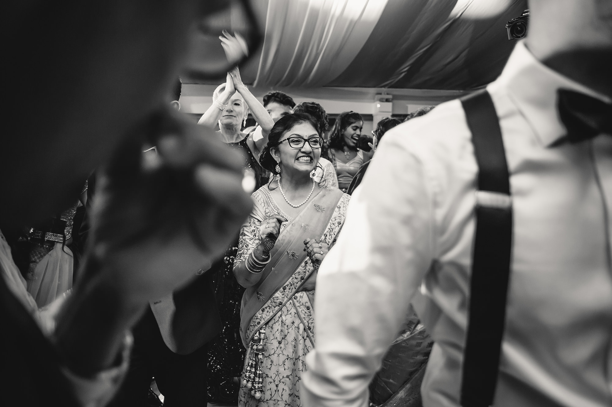 mother of groom at reception party
