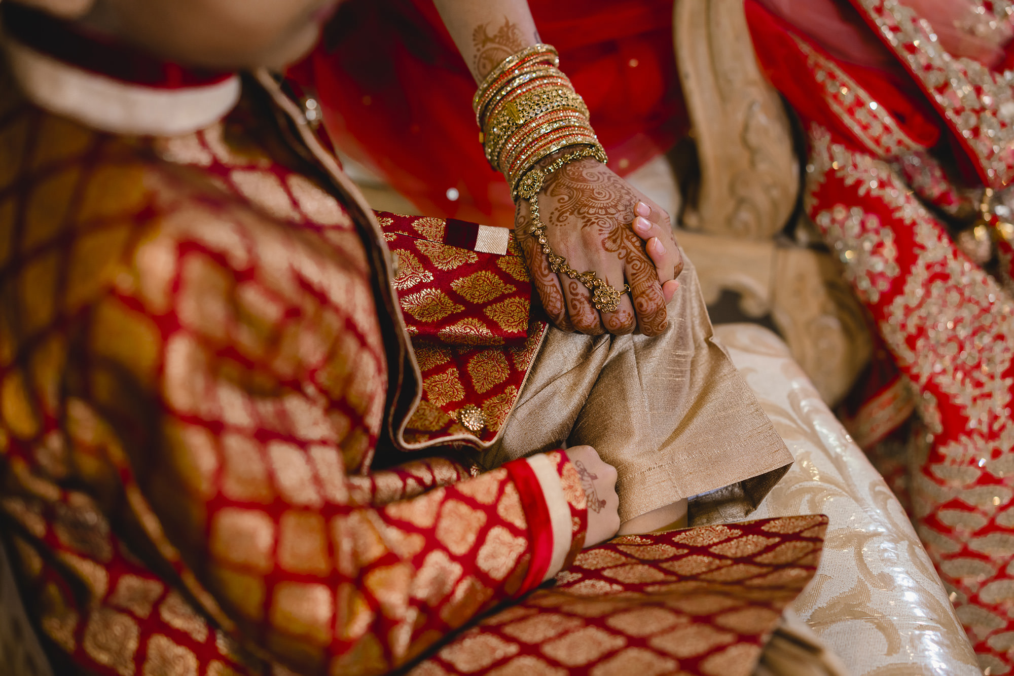 bride's nephew sitting in the mandap and not wanting to leave