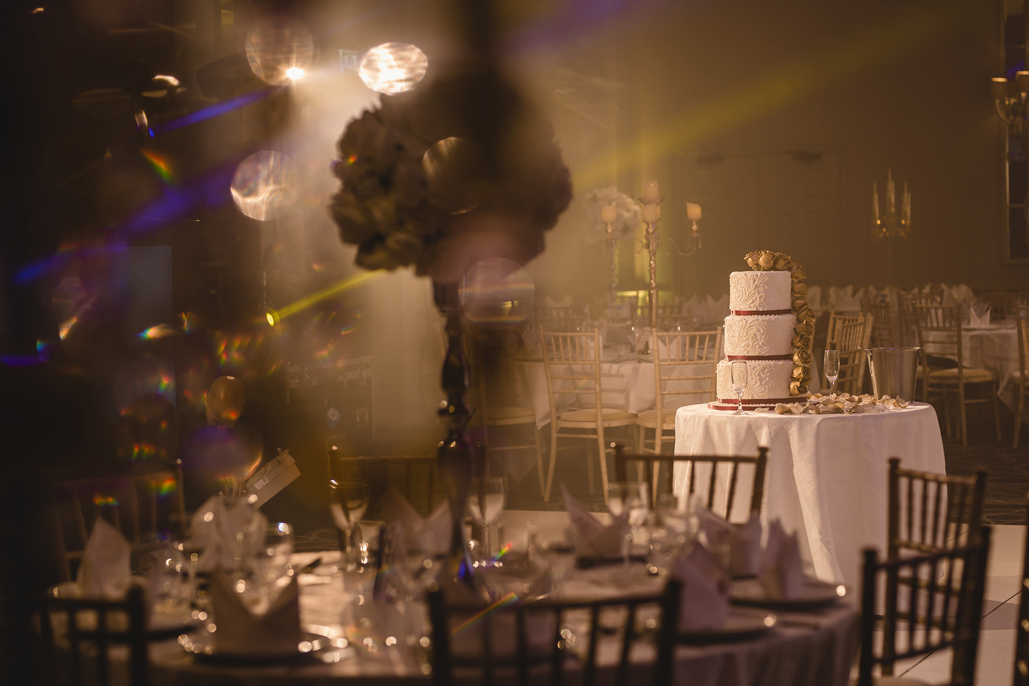 cake and decor photo at sopwell house wedding reception