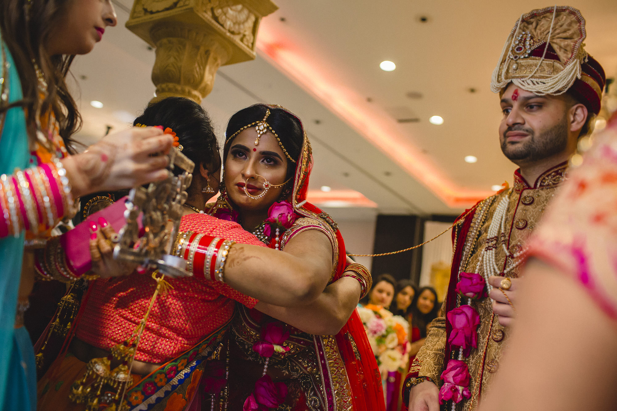 emotional goodbyes at hindu wedding