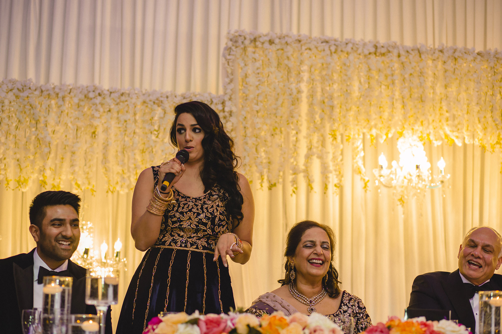 speeches during the wedding reception