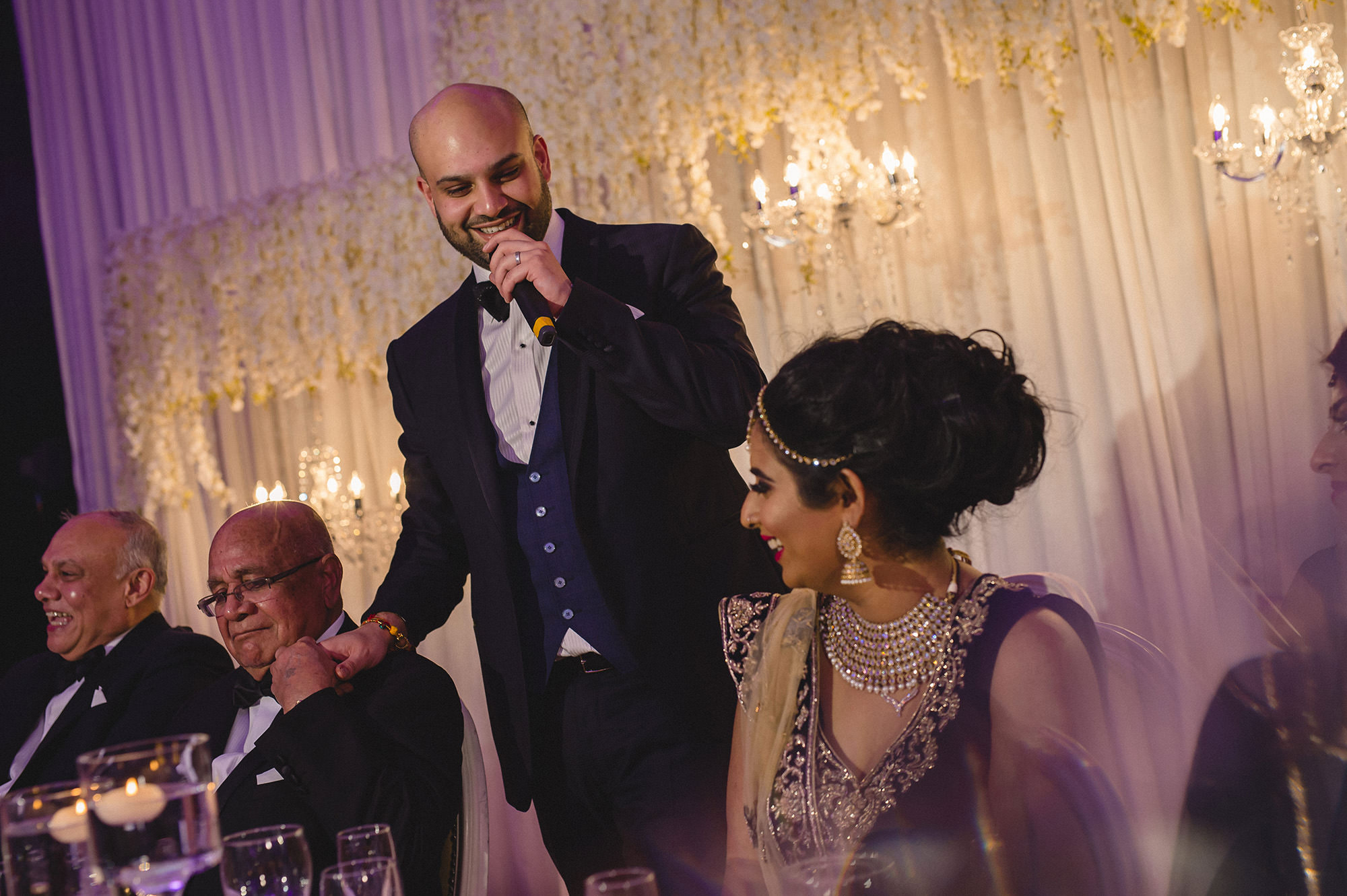grooms speech at the asian wedding reception