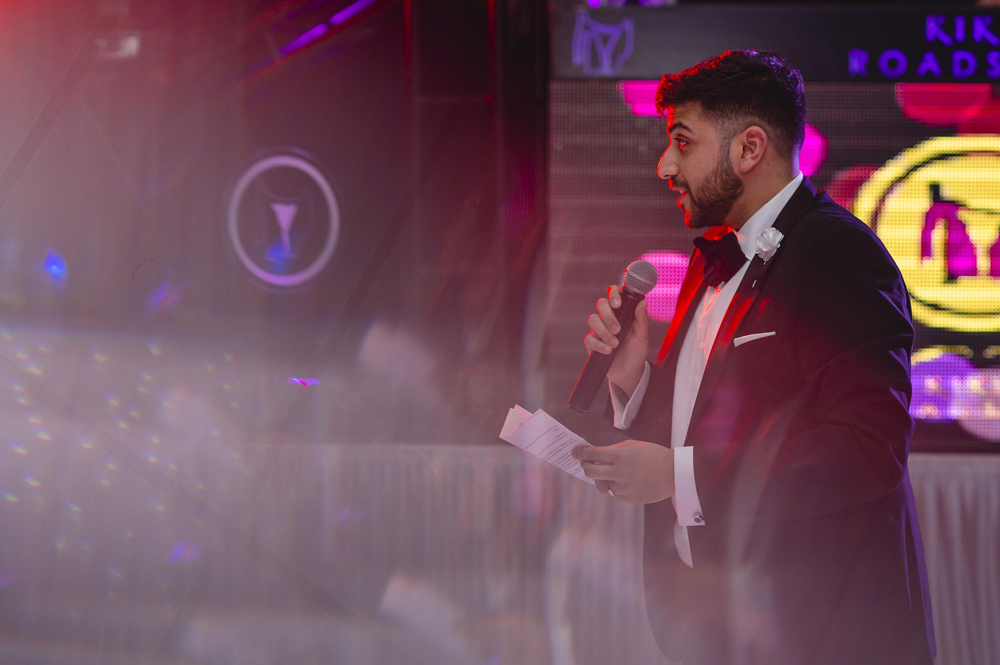 grooms emotional speech